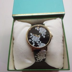 Kate Spade New White Floral/Black Watch